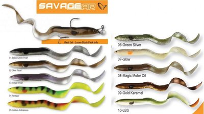 3D Real Eel LB 20 cm/27 g + 5g  Magic Motor oil 2 x