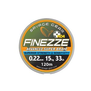 Finezze HD4 Braid 120m	  0.19mm	28lbs  12.8kg	Yellow