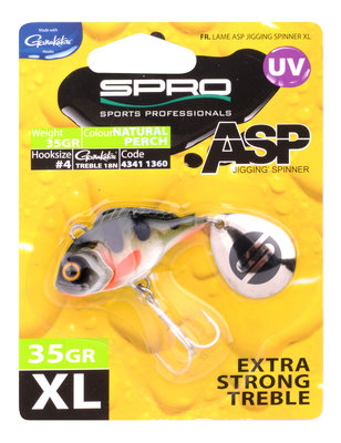 ASP Jiggin' spinner UV XL Natural perch 35gr