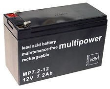 Multipower 12 V 7.2Ah LOODACCU 4.8mm