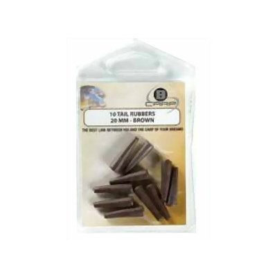 B-carp tail rubbers - 20mm brown