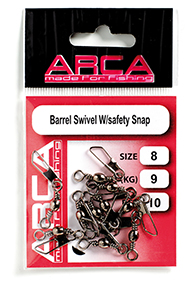 Barrel Swivel W/safety Snap Size 8 / 9 kg