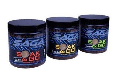 Saga Soak & Go Hookpellets 6mm