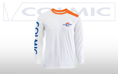 Colmic T-SHIRT LONG SLEEVES WHITE - X large - Einde reeks!!!
