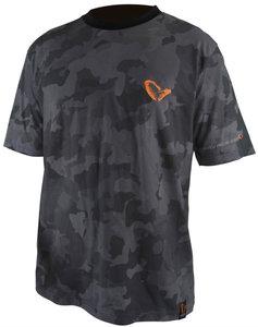 Savage gear black savage T-shirt black - Small / laatste stuk!!!
